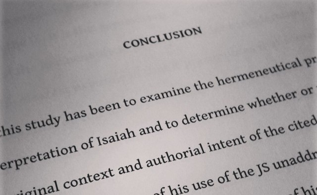Conclusion of a thesis